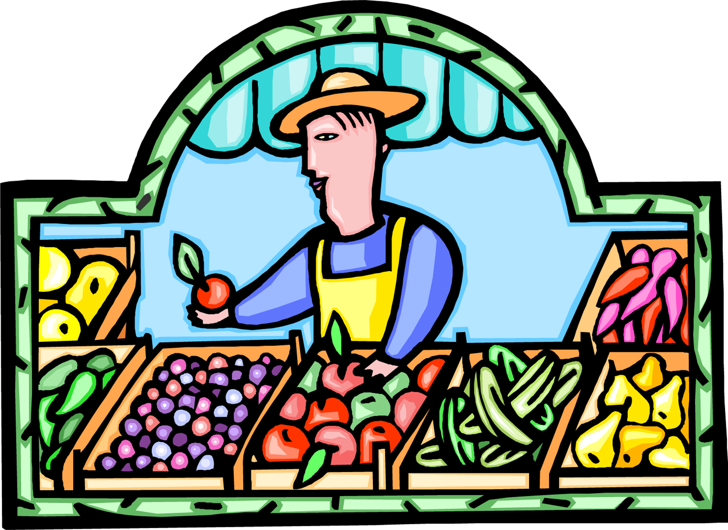 Market clipart street market. Grocer cliparts free download
