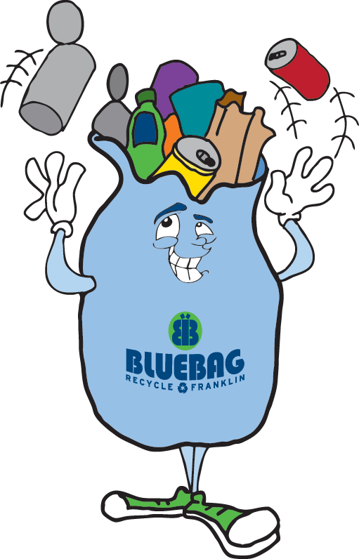 Division city of franklin. Grocery clipart recycling bag