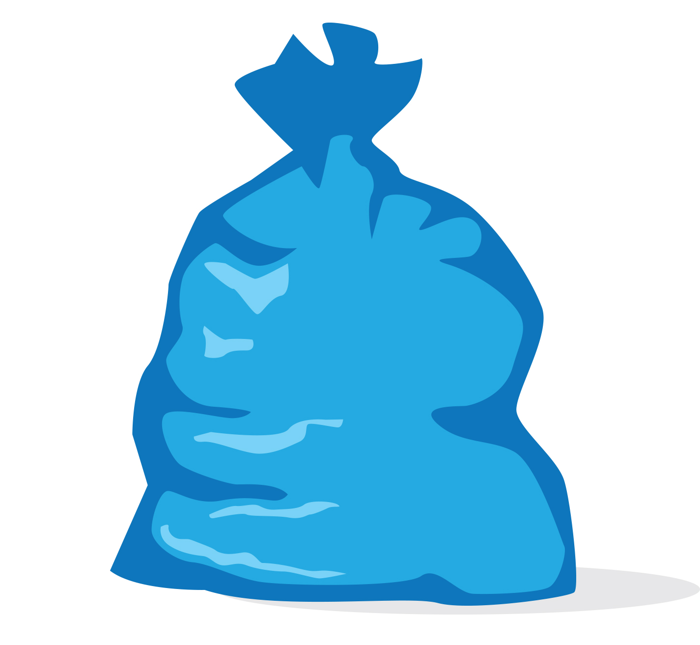 Blue mid michigan trash. Grocery clipart recycling bag