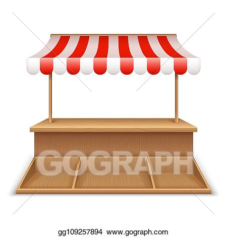 Clip art vector empty. Grocery clipart stall