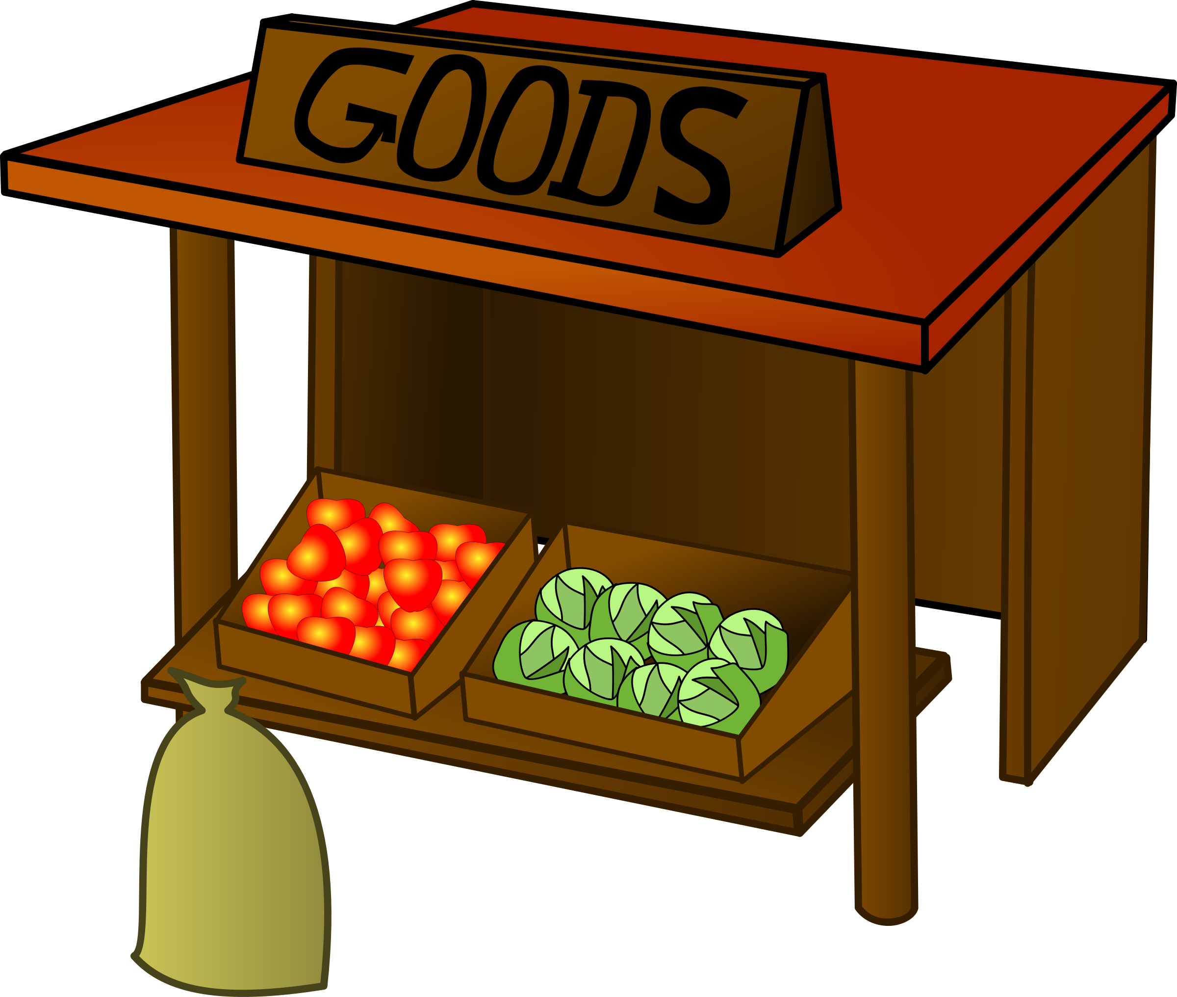 Marketplace market farmers clip. Grocery clipart stall