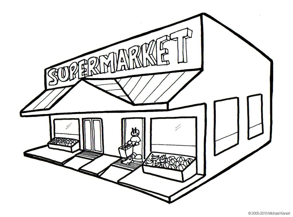 Grocery clipart village shop. Store drawing at paintingvalley