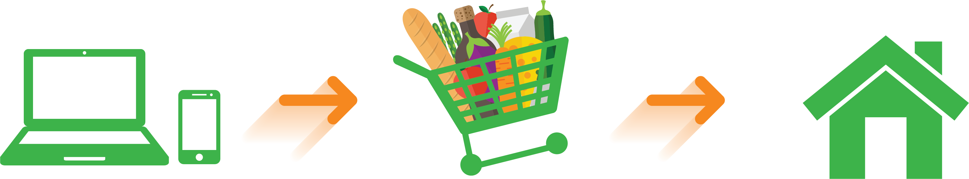 Groceries straight to your. Grocery clipart village shop