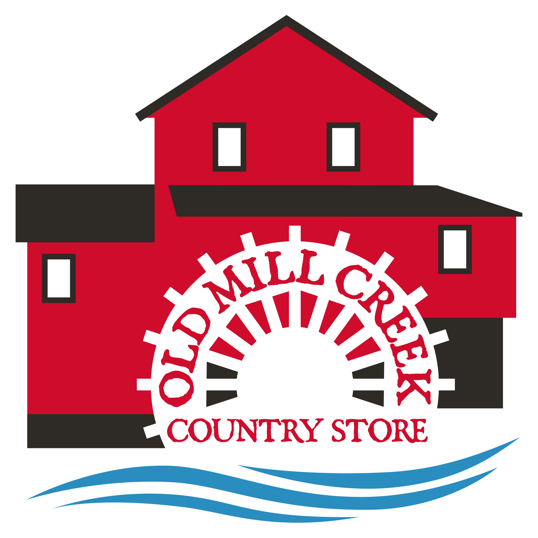 Old mill creek country. Grocery clipart village shop