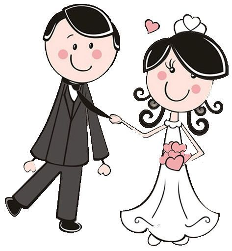 Bride and dibujos digi. Groom clipart