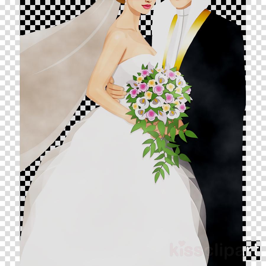 Groom clipart flower. Bride and cartoon wedding