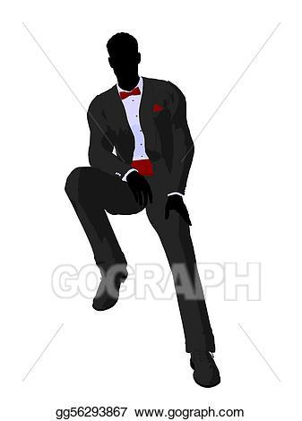 Groom clipart full tuxedo. Stock illustration wedding in
