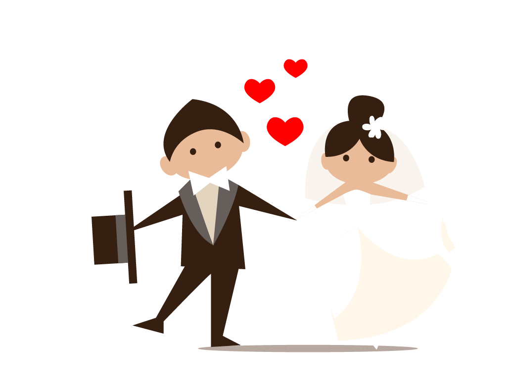 Wedding marriage bride and. Groom clipart icon