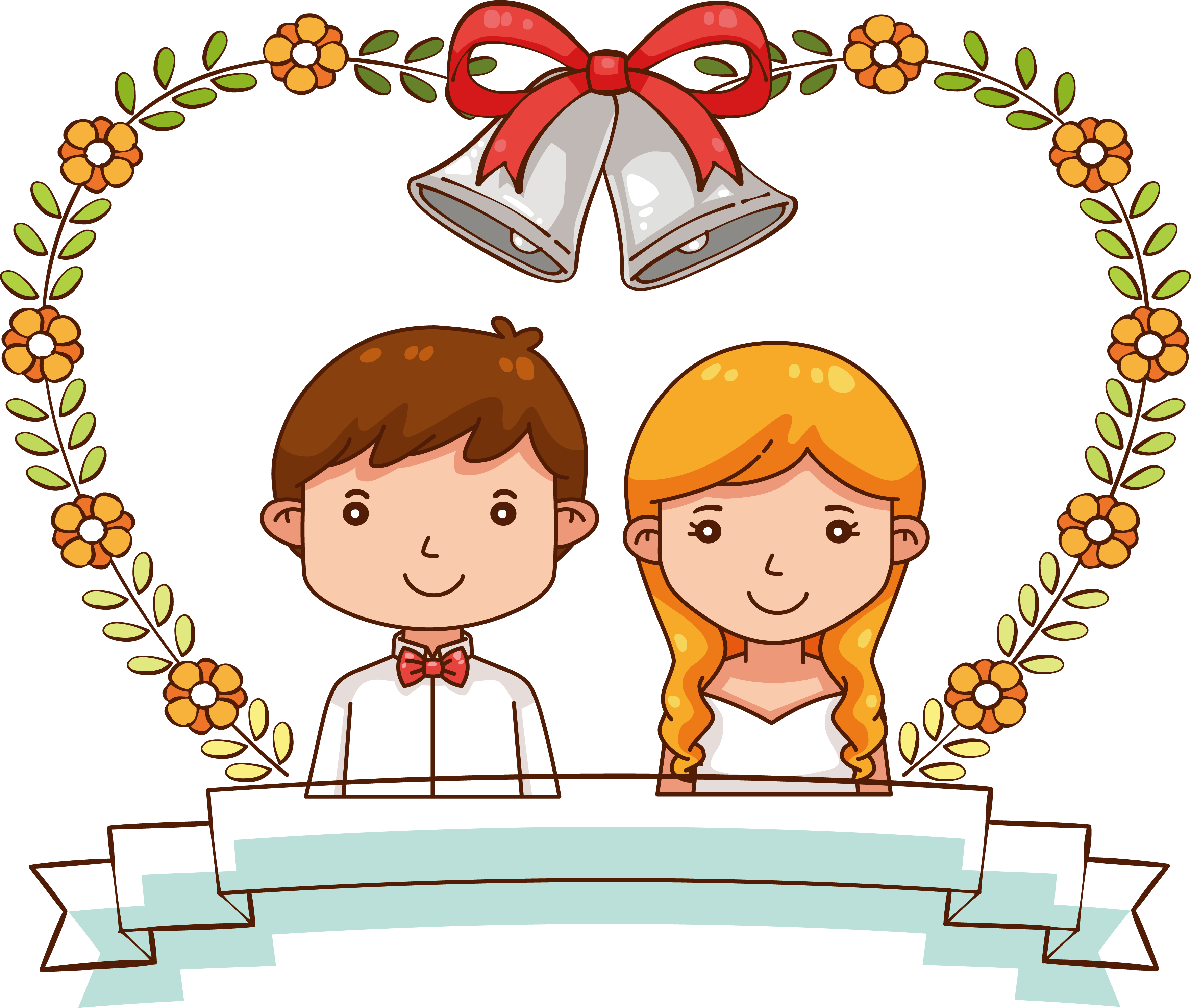 groom clipart marry with children