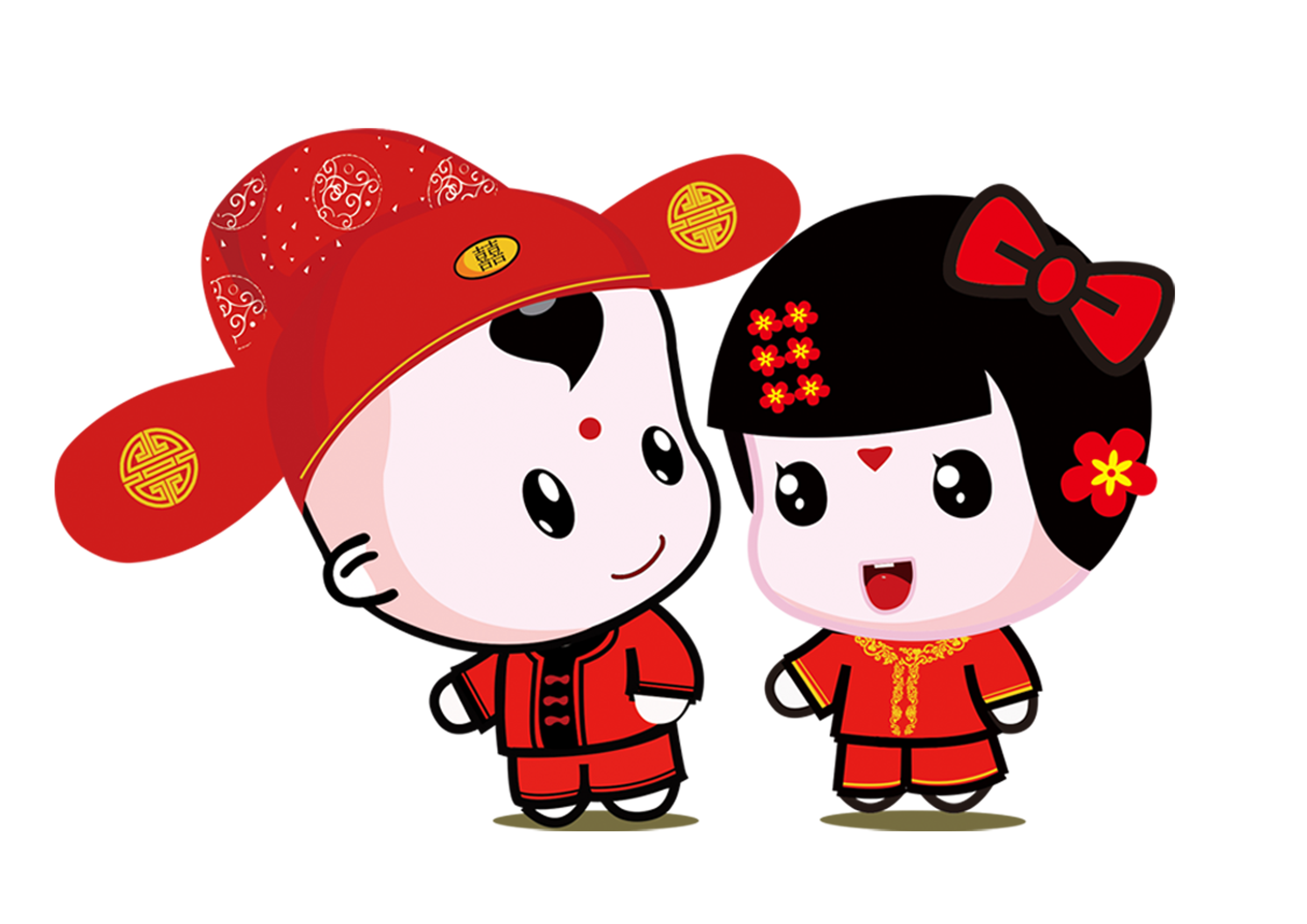 Chinese marriage wedding bride. Groom clipart marry with children