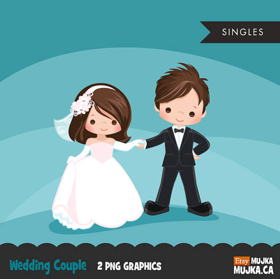 Groom clipart marry with children. Wedding couple bride and
