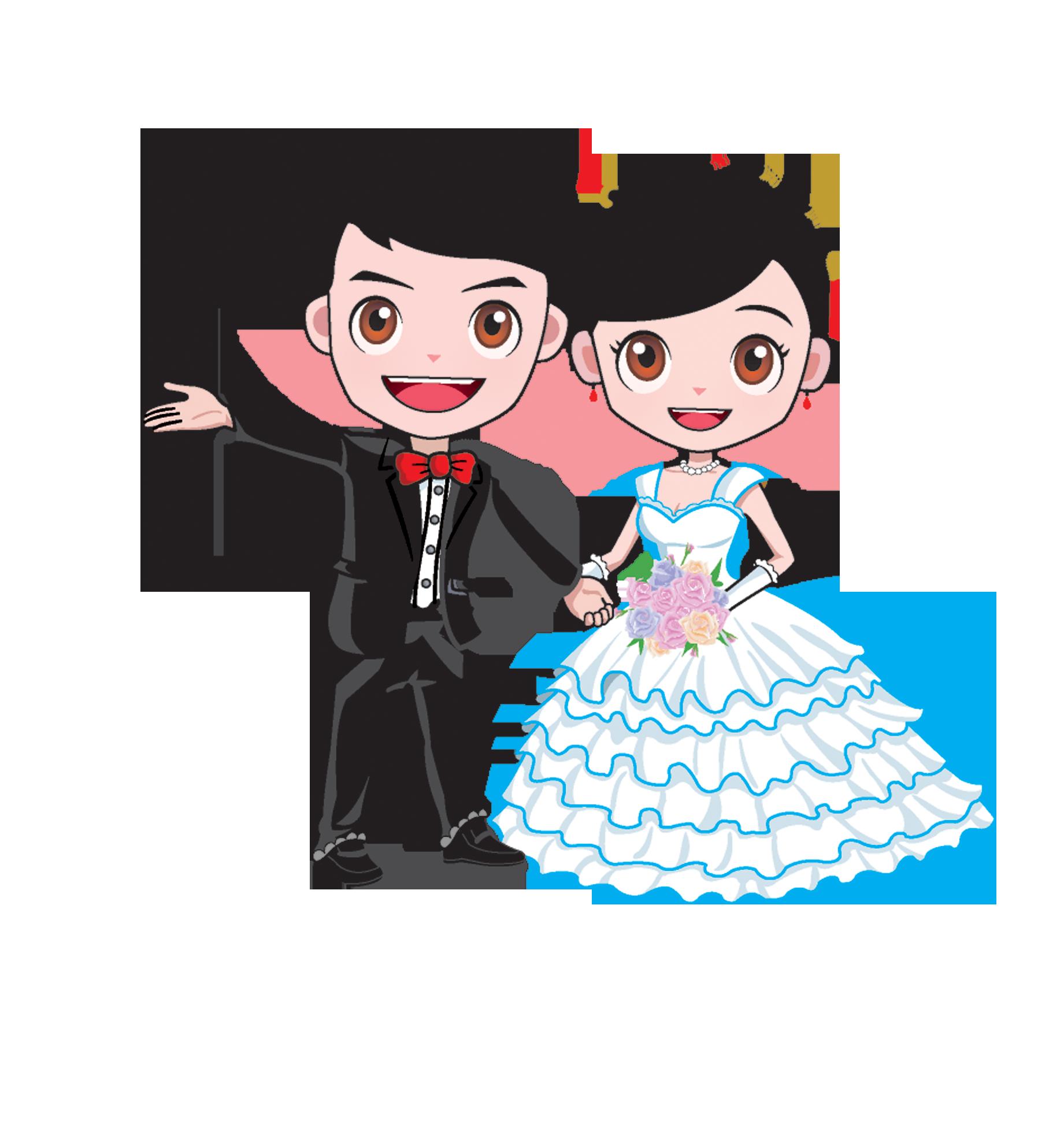 Cartoon wedding marriage bridegroom. Groom clipart marry with children