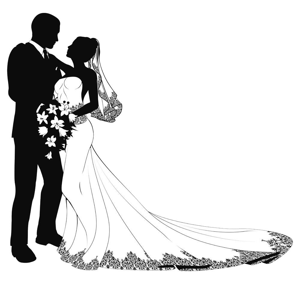 Groom wedding kiss
