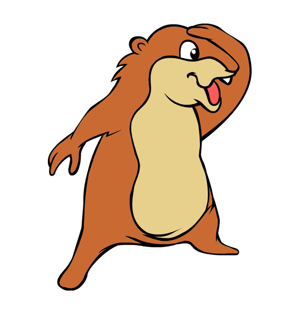 Groundhog clipart groundhog hole. Day dancing groungdhog cliparting