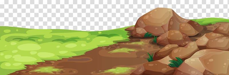Ground clipart brown ground. Grass and stones rocks