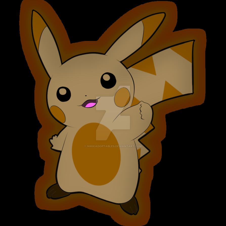 Pikachu adopt type open. Ground clipart brown ground