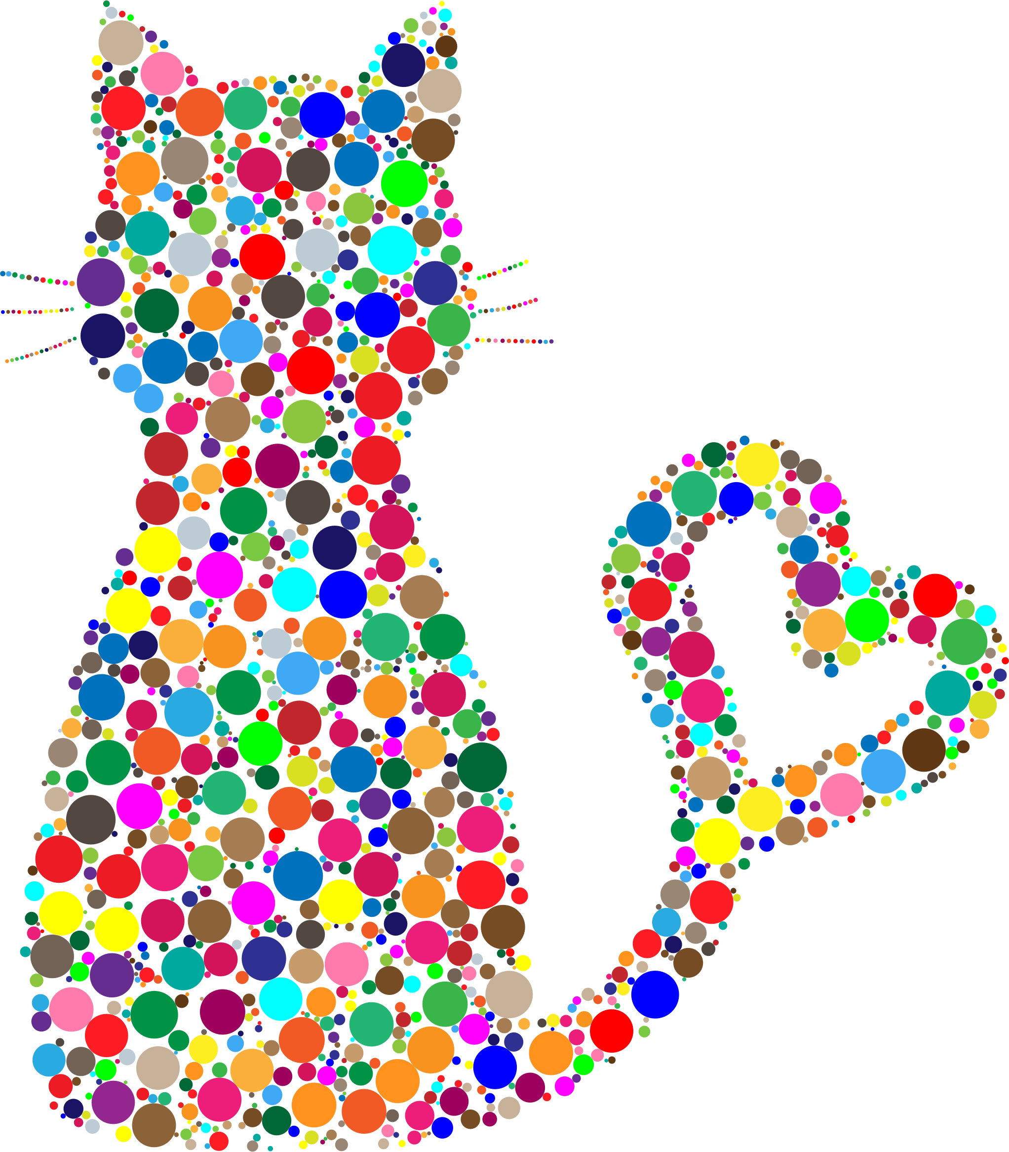 collection of colorful. Heart clipart cat