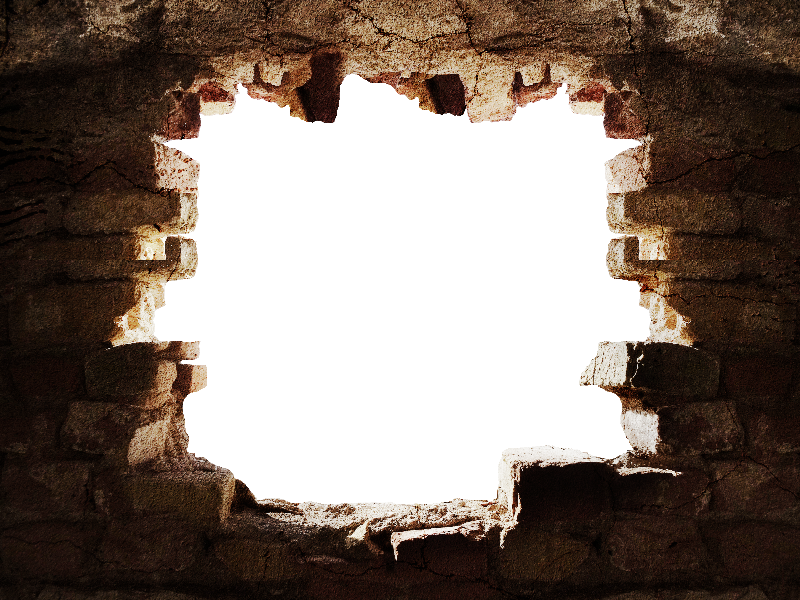 Hole clipart broken floor. Stone wall with in