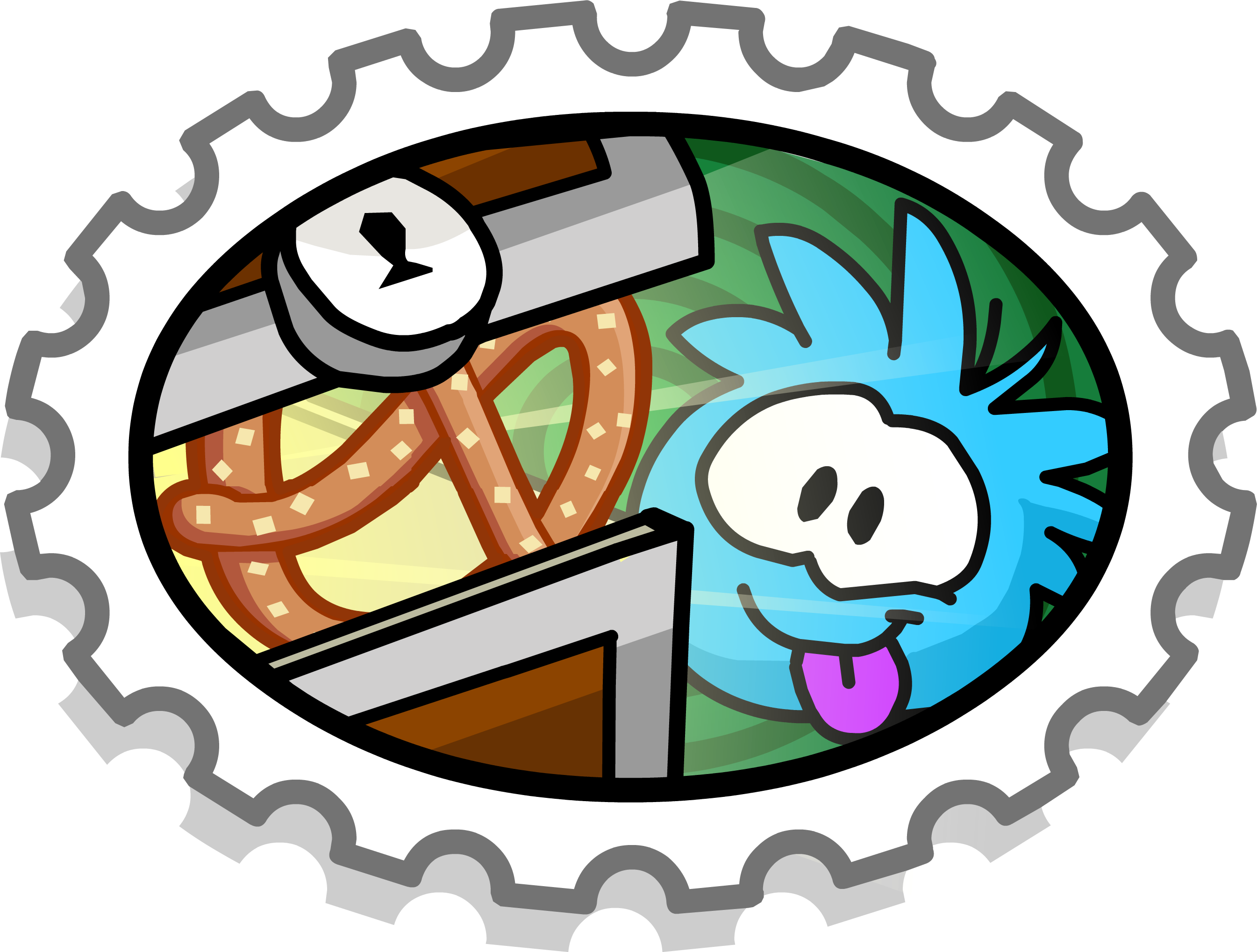 Puffle digging club penguin. Hole clipart dug hole