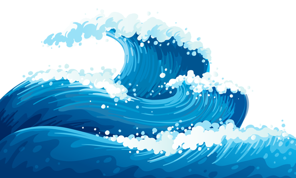 Blue sea waves picture. Ocean clipart ground