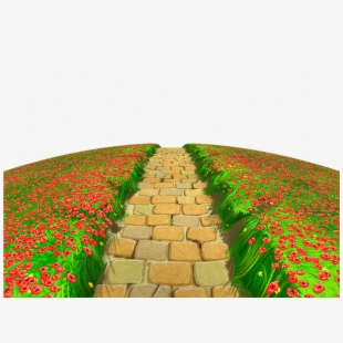 Pathway clipart stone path. Way road brick transparent