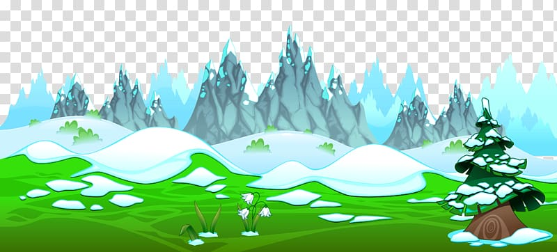 Ground clipart scenery. Spring early with icy