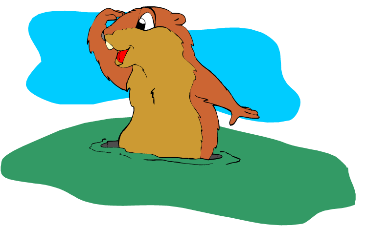 Free groundhog. Manatee clipart animated