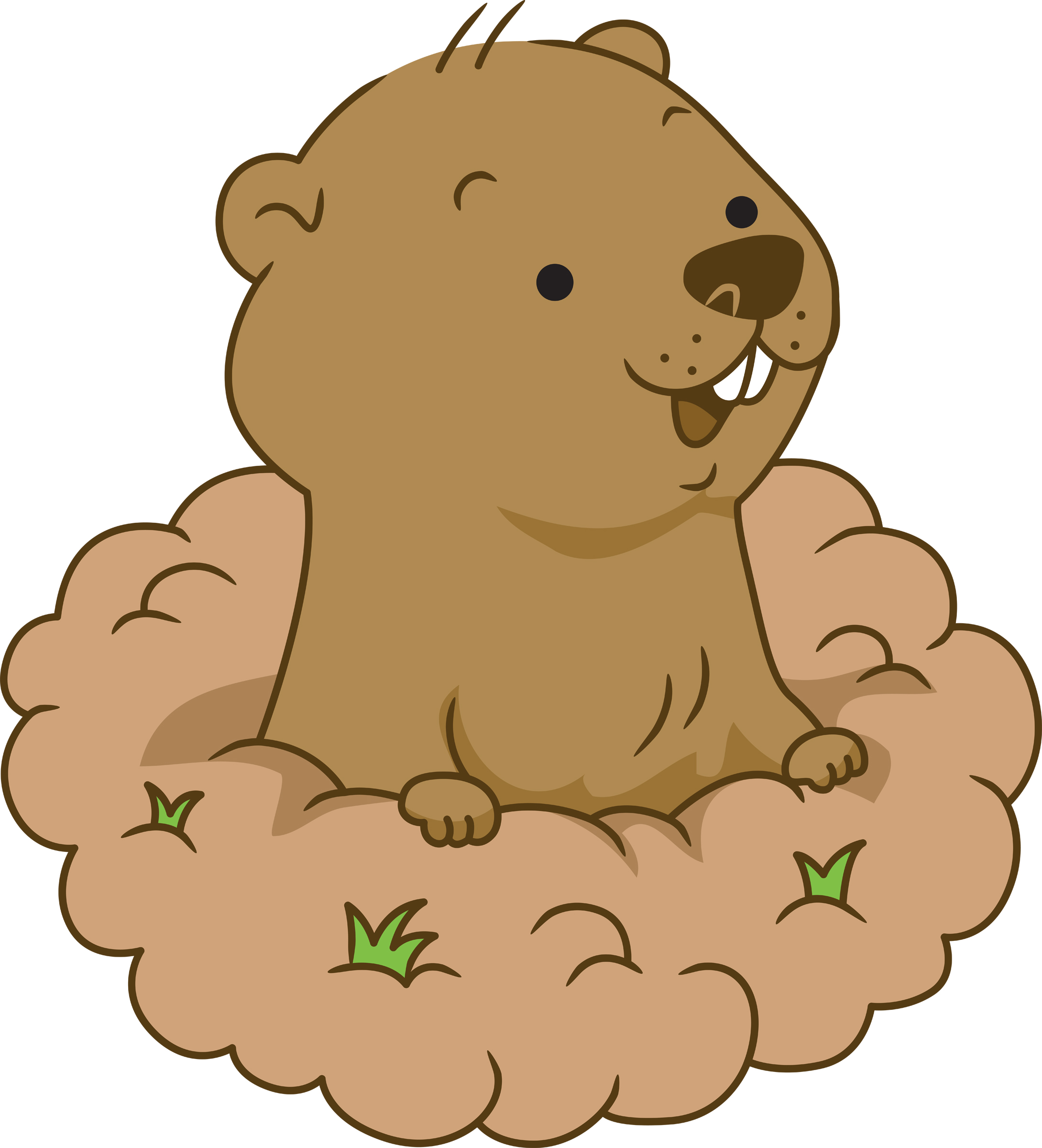 Hole clipart ground hog. Free groundhog cliparts download