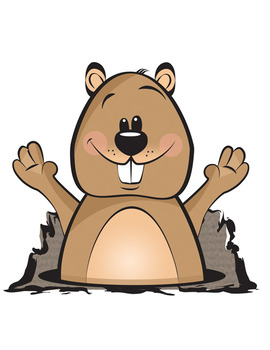 Day clip art by. Groundhog clipart