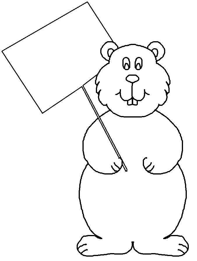 Groundhog black and white