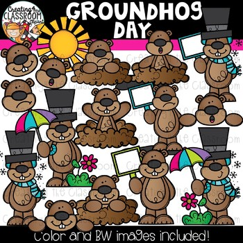 Day s . Groundhog clipart color