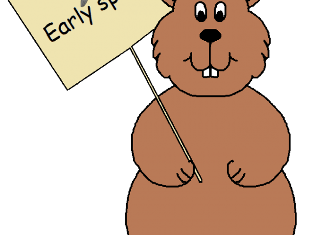 Groundhog clipart coloring page. Free on dumielauxepices net