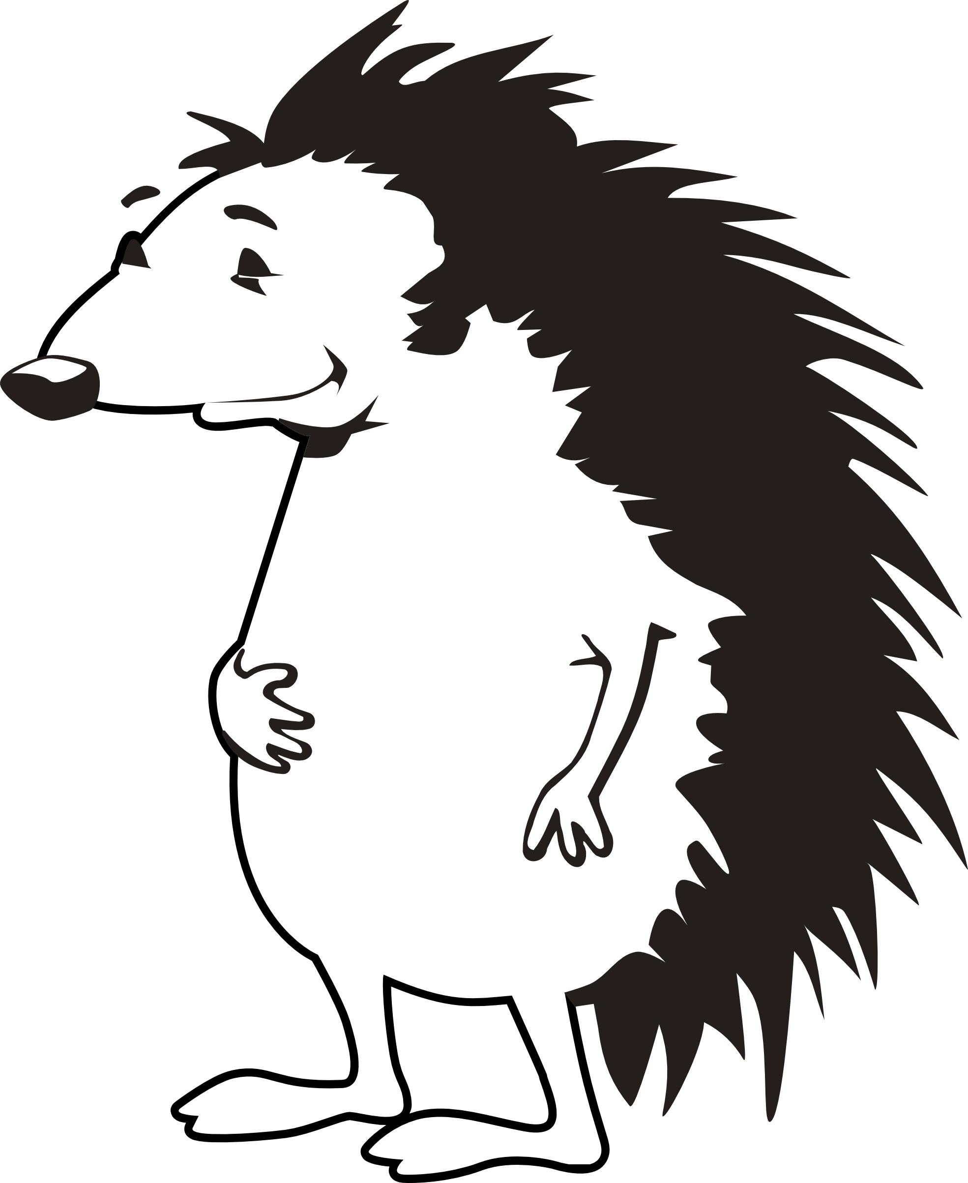 Hedgehog clipart animated. Porcupine clip art free