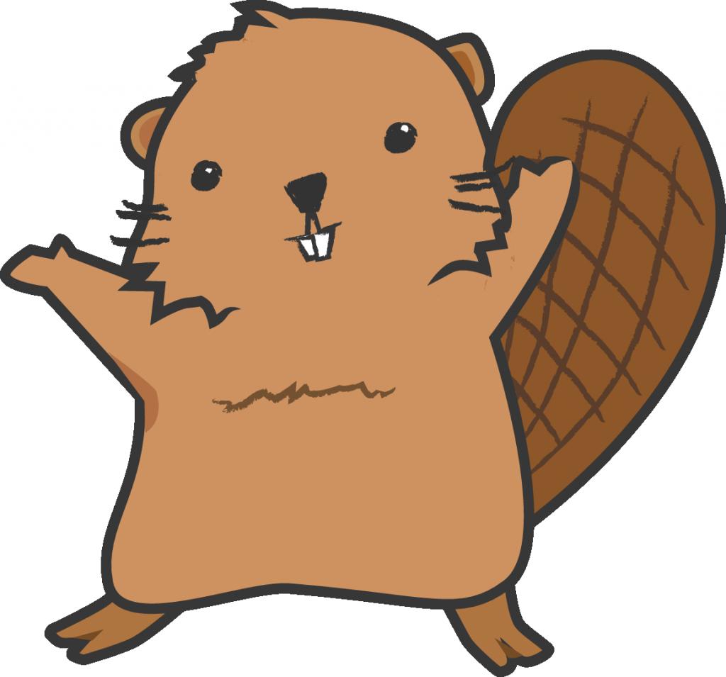 North american beaver cartoon. Groundhog clipart drawn