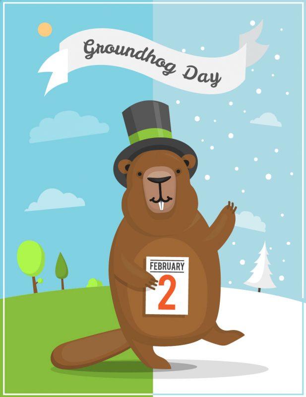 On hold marketing inc. Groundhog clipart february 2