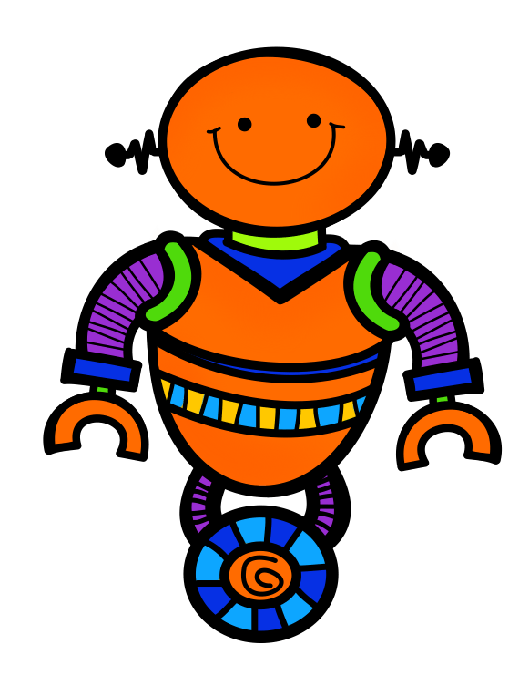 Round up the robots. Groundhog clipart february newsletter