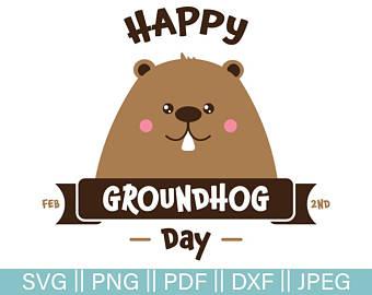 Etsy . Groundhog clipart groundhog day