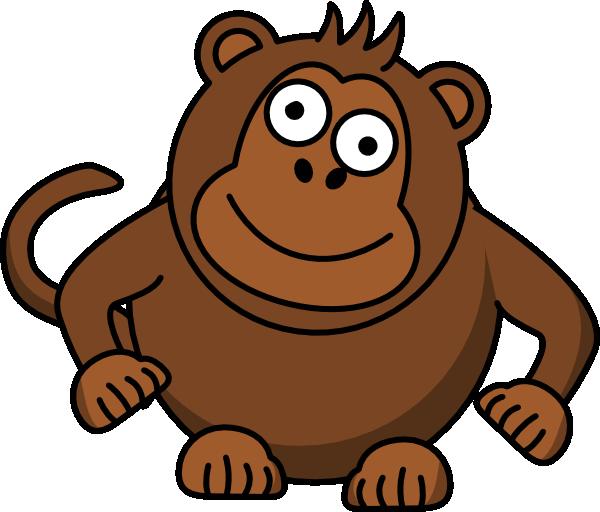 Monkey clip art at. Groundhog clipart happy
