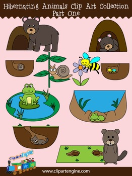 Animals clip art collection. Groundhog clipart hibernating
