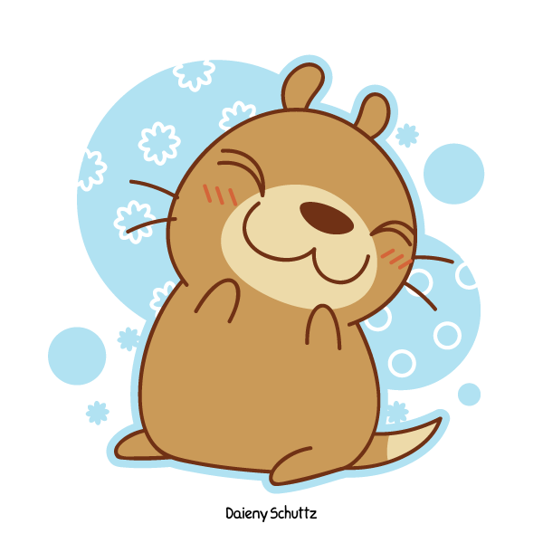 Groundhog clipart kawaii. Kawauso by daieny on
