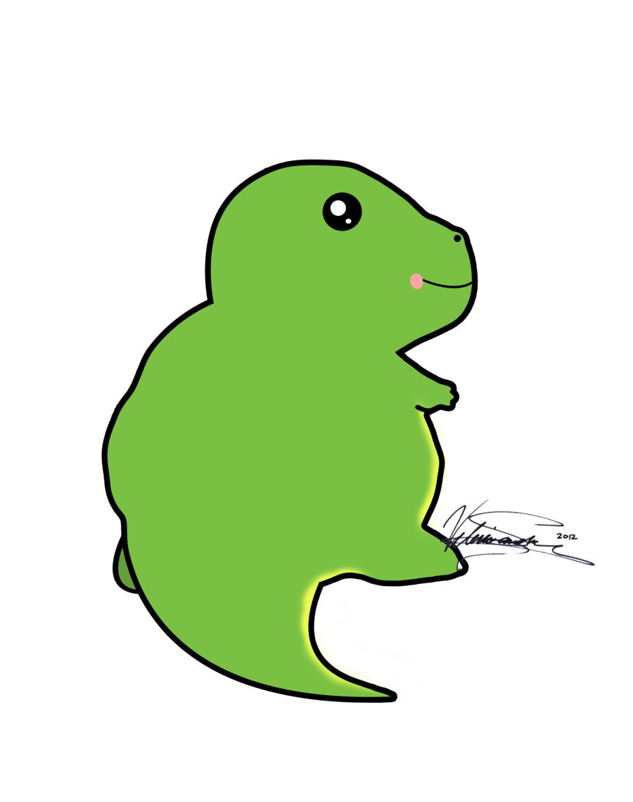 Groundhog clipart kawaii. Dinosaur by valerie heika