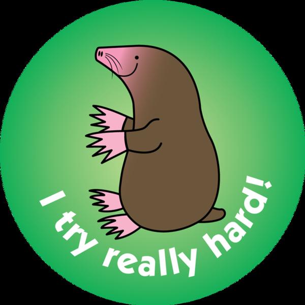 Groundhog clipart mole. I try really hard