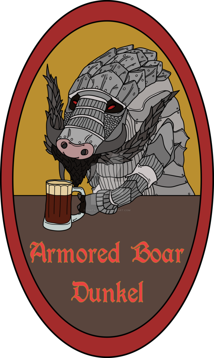 Groundhog clipart mole. Beer souls armored boar