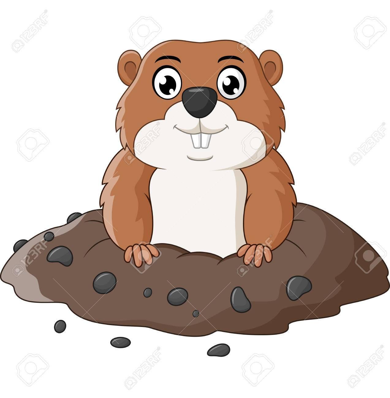 Free download clip art. Groundhog clipart mole