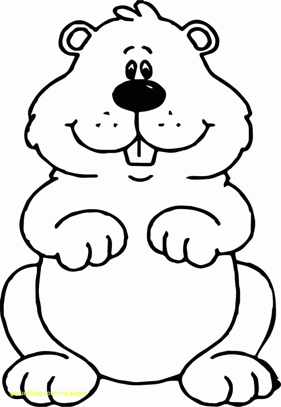 Groundhog clipart outline. Black and white in