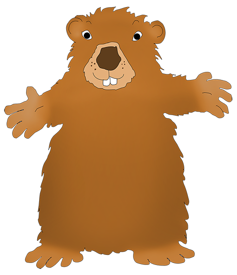 Groundhog clipart printable. Day