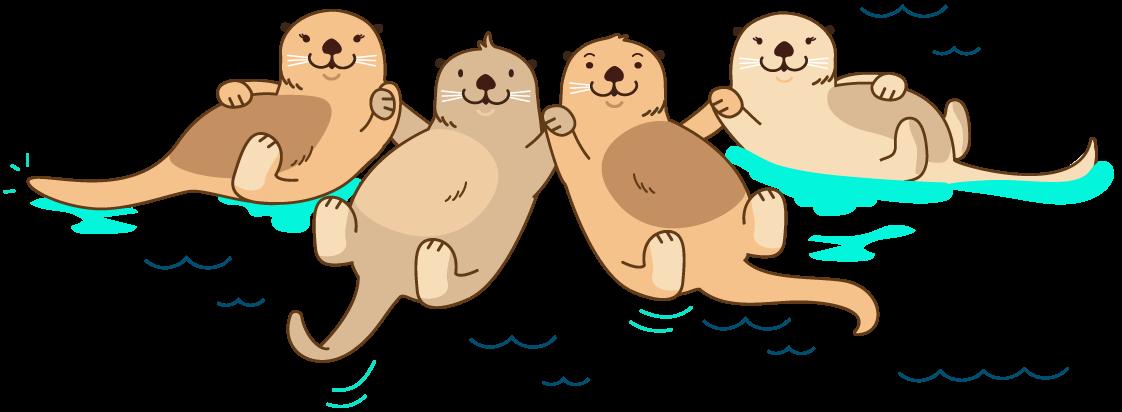 Groundhog clipart sea otter. Raftr get current raft
