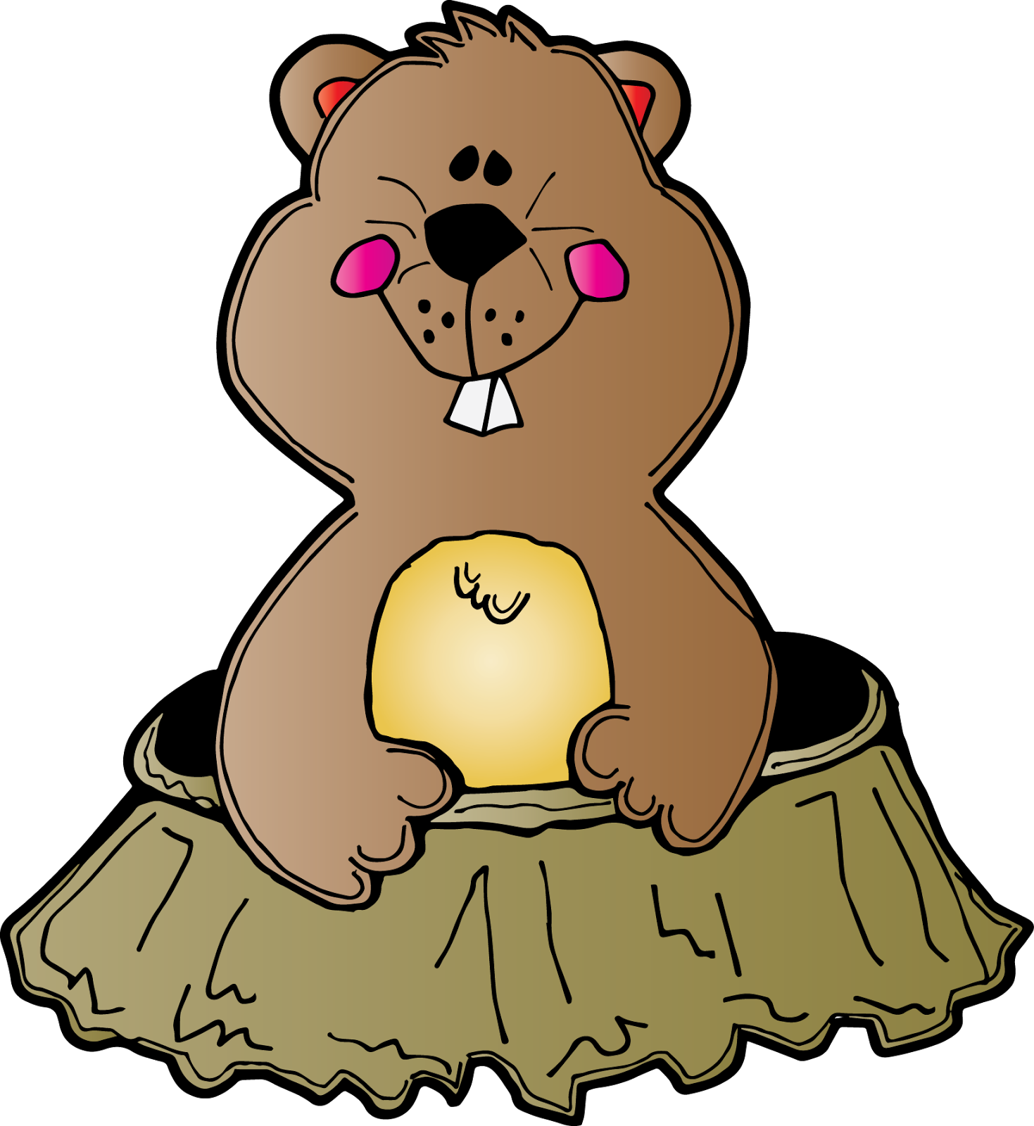 Groundhog clipart shadow. Kindergarten with susie january