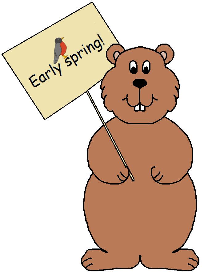 Groundhog clipart spring. Day phil gotta love