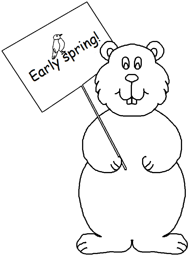 Graphics by ruth s. Groundhog clipart spring